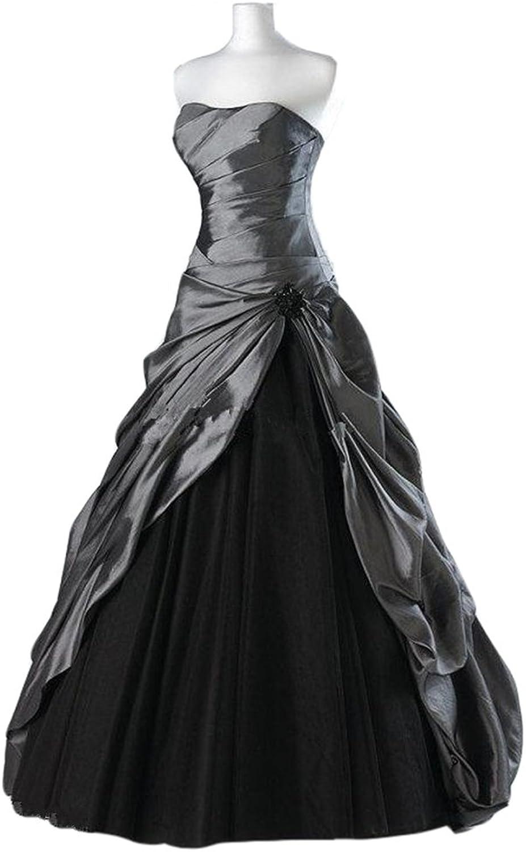Emmani Women's Aline Strapless Ruffle Sweep Train Quinceanera Evening Dresses