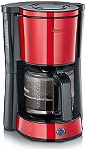 SEVERIN KA 4817 Typ kaffebryggare (för malet filterkaffe, 10 koppar, inkl. glaskanna) rött lackerat rostfritt stål
