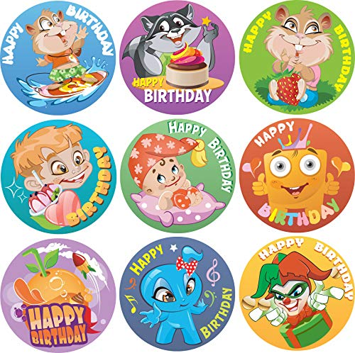 60% off 200-Pack Kids Happy Birthday Stickers Clip the Extra 10% off Coupon & use promo code: 502MMHJW
