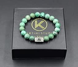 Qinghai Jade Bracelet, Men's Jade Bracelet, Natural Green Jade and Sterling Silver Bracelet