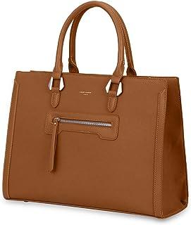 David Jones - Bolso de Mano Trabajo Mujer - Shopper Tote Bag PU Piel - Grande Bolso Bandolera Hombro Cuero Asa Superior - ...