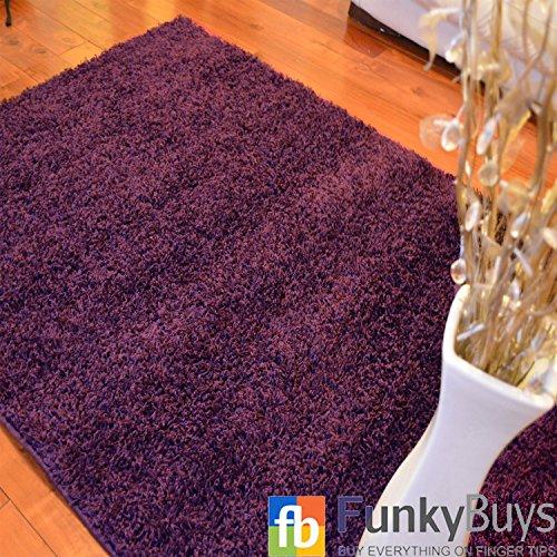 FunkyBuys Viola Small Large Taglia XL Spessi Pianura Morbido tappeti Non Shed Moderno Pelo Lungo 66x 110cm (0,6m 7,6cm x 0,9m 17,8cm) Best su Amazon