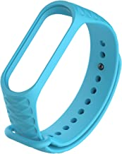 MobileGlaze Fitness Watch HEX Band Strap for Xiaomi Mi Band 3 & Band 4 - Blue (Device not Included)