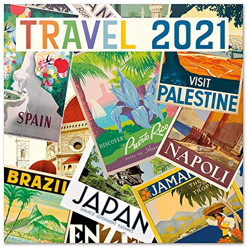 Grupo Erik Calendario 2021 da Muro Travel, calendario 2021 da parete, 16 mesi, 30x30 cm