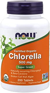 NOW Supplements, Organic Chlorella 500 mg with naturally occurring Chlorophyll,..