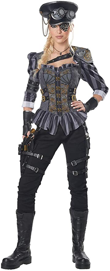 80s Costumes, 80s Clothing Ideas- Girls California Costumes womens Steampunk Captain Adult Costume  AT vintagedancer.com