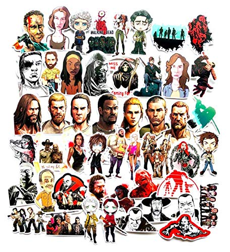 American Tv Series The Walking Dead Luggage Stickers Graffiti Notebook Small Stickers Guitar Car Stickers Waterproof Stickers 50 Sheets