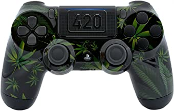 420 Black Custom PS4 PRO Rapid Fire Custom Modded Controller 40 Mods for All Major Shooter Games, Fortnite & More with custom touchpad (CUH-ZCT2U)