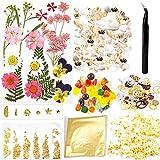 MAEKIJOY Kit d'accessoires en résine époxy avec fleurs sé