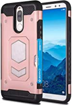 Huawei Mate 10 Lite Case, Huawei Nova 2i Case, Ranyi Armor Case with Magnetic Car Mount Wallet Cover Card Holder ID Slot Shock Absorbing Rugged Protective Case for Huawei Mate 10 Lite (Rosegold)
