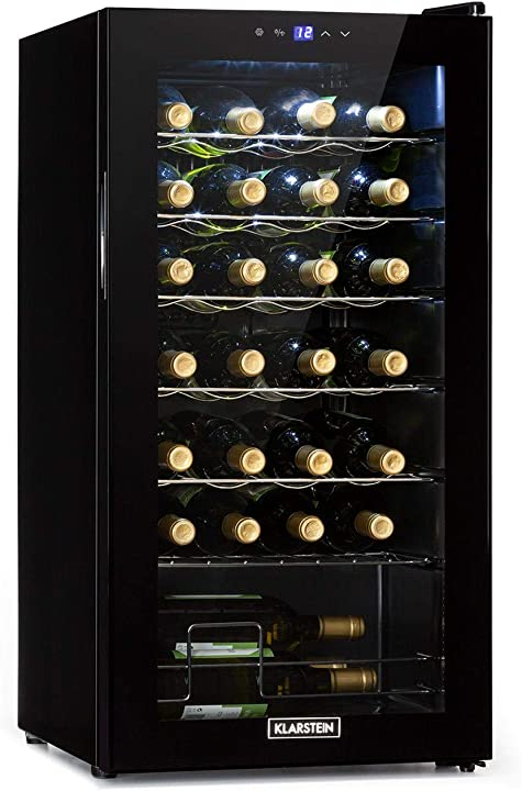 Frigorifero vini temperature: 5-18 °c 42 db pannello soft-touch 6 ripiani 28 bottiglie klarstein shiraz uno HEA-90300-klpe
