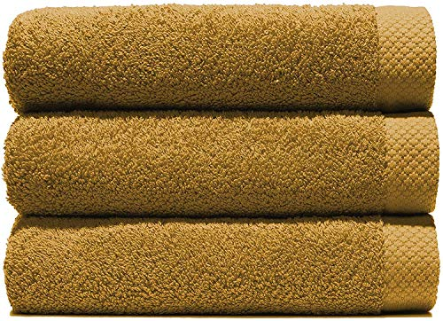 Lasa handdoeken, 100% katoen, honing, badkamer (100 x 150 cm), wastafel en make-uptafel