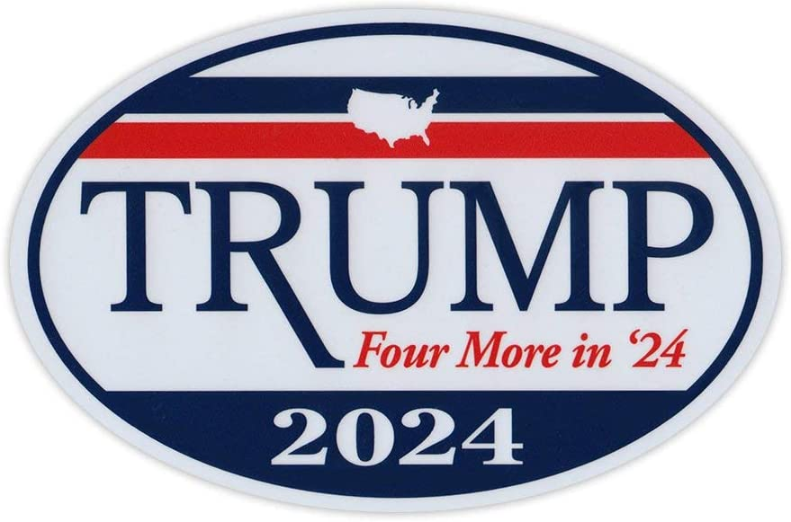 Oval Shaped Magnet - Donald 70% OFF Outlet Trump for President 2024 Four Portland Mall More
