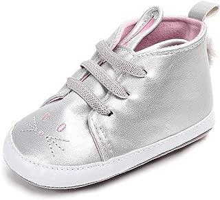 Enteer Baby Girls' Elastic Bunny Sneaker
