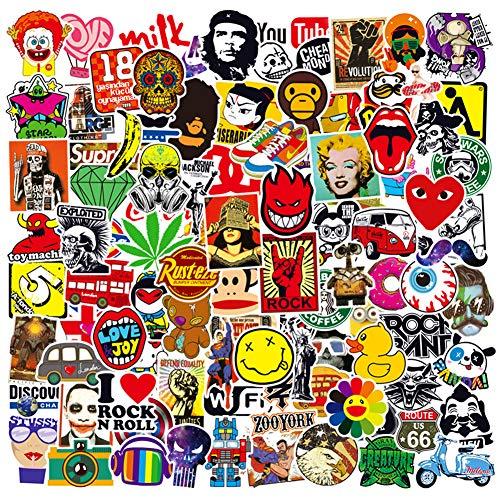 PRETTYSUNSHINE Graffiti Sticker Aufkleber 100 Stück Wasserdichter Vinyl Sticker Decals für Koffer Laptop Helm Motorrad Auto Möbel Fahrrad PS4 Xbox One Skateboard Snowboard MacBook Gepäck Scrapbook