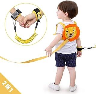 Lehoo Castle Correa para niños pequeños para caminar, arneses de seguridad para niños pequeños, arnés de seguridad con cerradura para niños, eslabón anti perdido Eslabón de seguridad para niños
