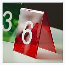 Tafelummers, Kleurrijke Acryl Restaurant Plaats Nummerplaat, Dubbelzijdig Tafelnummer Tafelplaat Digitale Restaurant Kaar...