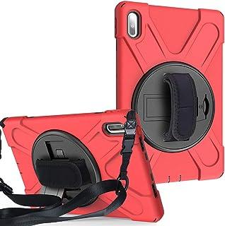 ケースfor Huawei MatePad 10.4インチ2020, 頑丈で頑丈な保護用耐衝撃カバー, 360度回転スタンド付き, ハンドストラップ, 子供用iPadミニケース用ショルダーストラップ for BAH3-W09/BAH3-AL00...