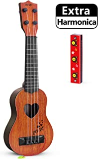 hhobby stars Kids Guitar Musical Toy Ukulele Classical Instrument(Brown),with Extra..