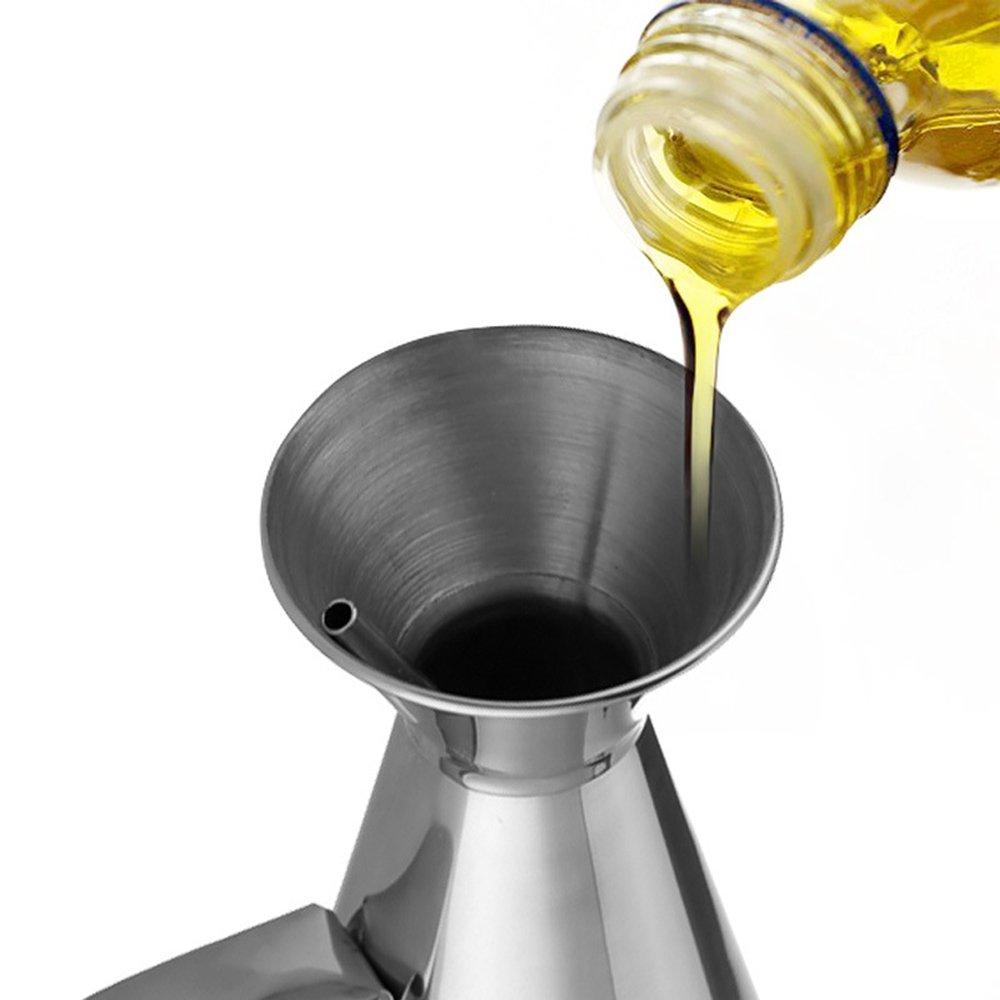 MyLifeUNIT a prueba de fugas botella de aceite de oliva dispensador, dispensador de aceite, acero inoxidable: Amazon.es: Hogar