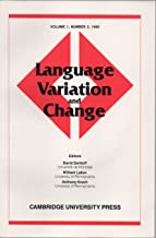 Language Variation & Change, vol. 1, no. 3 (1989): Sex, Attitudes, & Assibilation in San Luis Potosí, Mexico; Subject–Verb Concord in Early Modern English; Whole Woman: Sex & Gender Differences; etc.