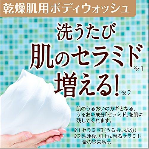 ロート製薬ケアセラ天然型セラミド7種配合セラミド濃度10倍泡の高保湿全身ボディウォッシュピュアフローラルの香り450mL
