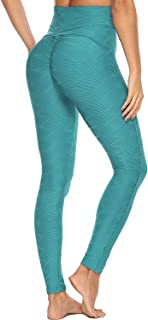 FITTOO Women's Honeycomb Ruched Butt Lifting High Waist Yoga Pants Chic Sports Stretchy Leggings