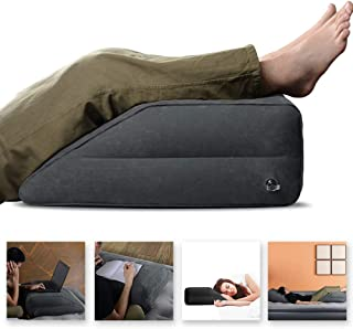 WEY&FLY Leg Elevation Pillow, Inflatable Leg Rest Pillow - Elevating Leg to Reduce Swelling, Back Pain, Leg Pain, Hip and Knee Pain, Improves Circulation, Ideal for Sleeping Reading Relax