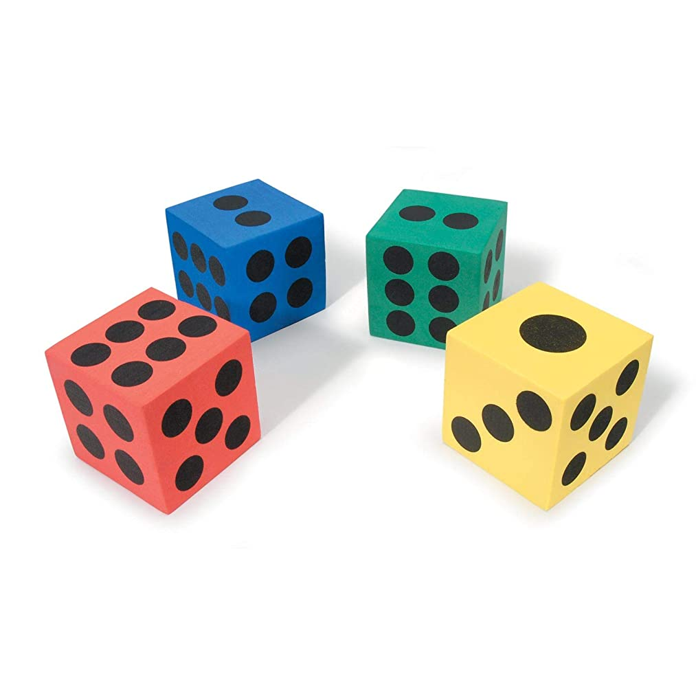 Bulk Buy: Darice Foamies 3-D Foam Dice 2 Assorted Colors 2.4 x 2.4 x 2.4 inches (12-Pack) 106-3616