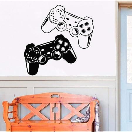 Game Zone Decor Wall Decal Dormitorio Videojuego Gamer Joystick Decoración De La Habitación Pegatinas Para Niños Vinilo Extraíble 42X42Cm