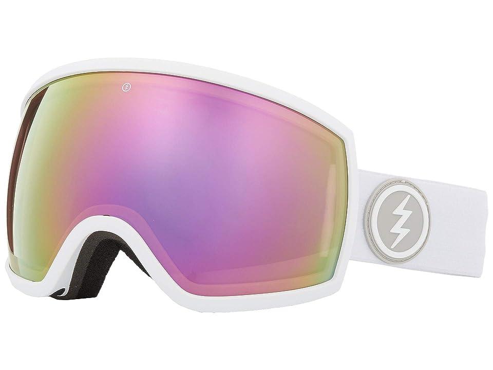 Electric Eyewear EGG (Matte White/Jet Black) Athletic Performance Sport Sunglasses