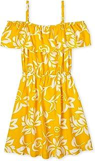 The Children's Place girls Cold Shoulder Floral Print Dress Dress