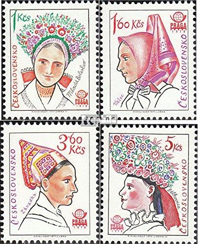 Tchécoslovaquie 2387-2390 (complète.Edition.) 1977 Exposition philatélique (Timbres pour Les collectionneurs) Uniformes / Costumes