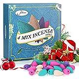 Jeteven 200Pcs Conos de Incienso de reflujo,Conos Incienso 4 Aromas Naturales Usado para Quemador de Incienso de Reflujo,para purificación de Aire de aromaterapia Relajación y la Meditación