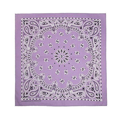 CTM Pastel Paisley Bandanas, Lavender