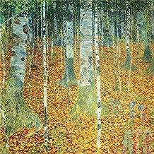 ArtToCanvas 32W x 32H inches : Birkenwald Birch Forest, 1903 by Gustav Klimt - Paper Print ONLY
