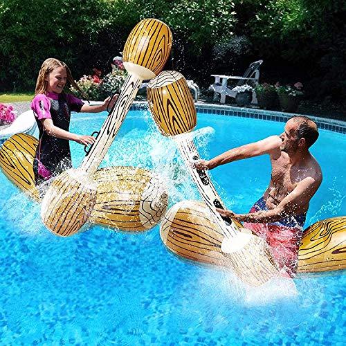 Juego de 4 batallas flotantes para niños y adultos, para nadar en exteriores, playa, piscina, juguete hinchable de PVC, para verano, piscina, silla de descanso, juegos deportivos, juguetes acuáticos