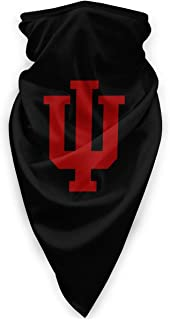 Indiana University Bloomington Man Woman Outdoor Windproof Sports Face Mask Scarf Bandanas Neck Gaiter Balaclavas