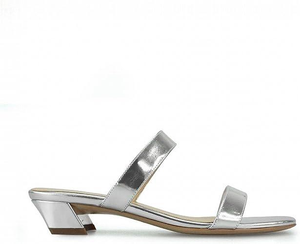 DHG Mot de Mode avec des Chaussures Courtes Et Porter des Femmes,Argent,40