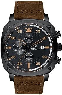 Dakar Cronograph Watches | 45 MM Men's Analog Watch | Leather