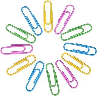 affiche Distributeurs de trombones 300pcs m/étal trombones signets en forme de gouttes deau titulaire de trombones pour la d/écoration de fournitures de bureau papeterie pour livre m/émo papier