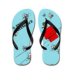69c253226e32df CafePress - Snoopy The Flying Ace - Flip Flops