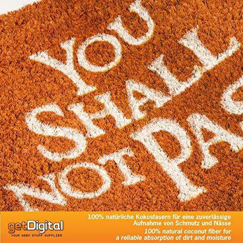 getDigital Felpudo You Shall Not Pass - Varios Colores 60 x 40 cm