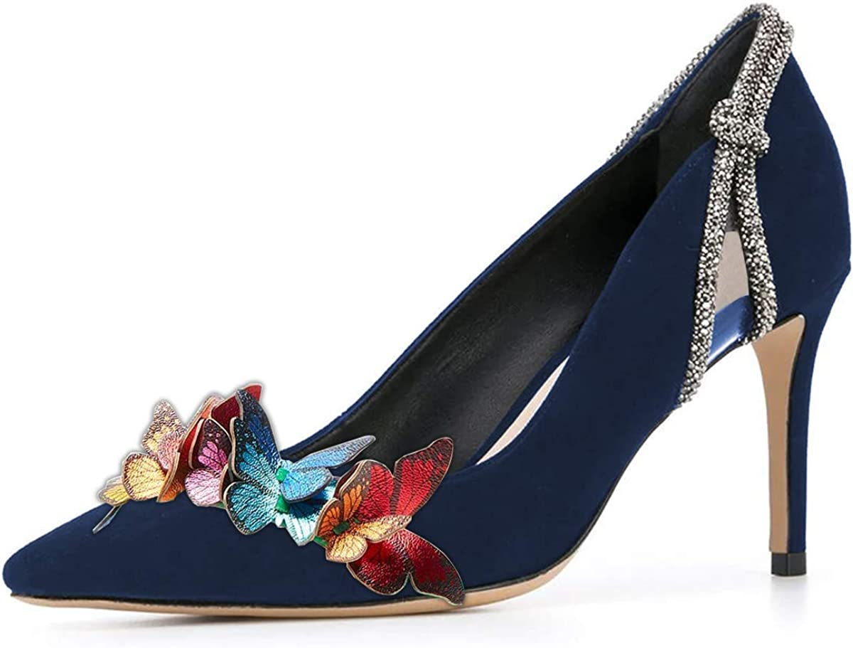 YDN Women Retro Pointed Toe Max 83% OFF High Pumps On OFFer Rhines Heels with Slip