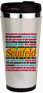Seinfeld Quotes Logo - Unique and Funny Stainless Steel Travel Mug, Insulated 16 oz. Coffee Tumbler