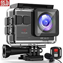 Victure AC700 Action Camera 4K Wi-Fi 20MP 130FT(40M)...