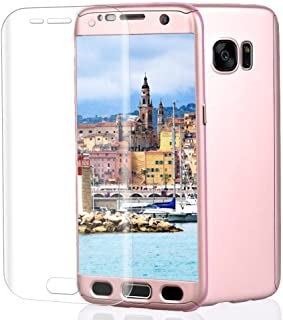 Samsung Galaxy S7 Case, VPR 3 in 1 Ultra Thin Full Body Protection Slim Hard Premium Luxury Cover Shock Absorption PC [With TPU and Film Screen Protector] case for Samsung Galaxy S7 2016 (RoseGold)