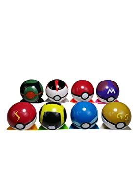 GYRO SHOP 8 Collectible Pokeball + 24PCS Mini Poke Action Figures pet Pocket Monster Action Figure Toy for Kids Ages 2 and Up