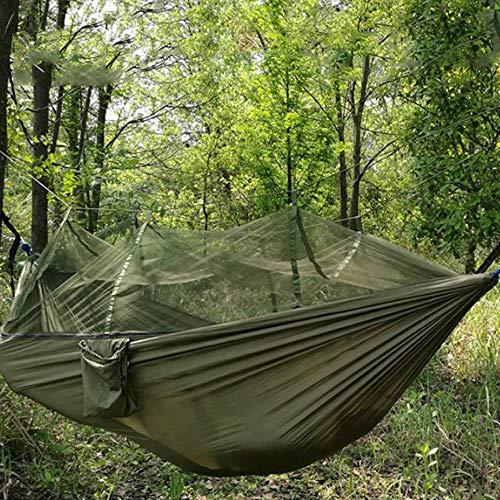 Kampeerhangmat met muskietennet, Outdoor Nylon Reizen Hangmatten Swing Hangend Bed Anti-muggen Mesh Hangmat voor Kamperen Wandelen Reizen Backpacking