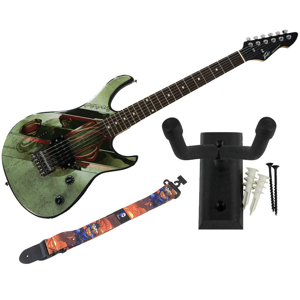 Cheap Peavey Superman Rockmaster Electric Guitar Wall Hanger Man of Steel Strap Black Friday & Cyber Monday 2019